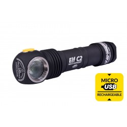 Фонарь налобный Elf C2 Micro-USB + 18650 Li-Ion Warm Light | ArmyTek