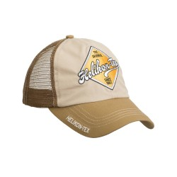 Кепка TRUCKER Logo KHAKI/U.S. BROWN | Helikon-Tex