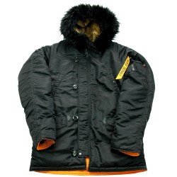 Куртка Аляска Husky короткая Black/orange | Nord Denali