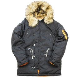 Зимняя куртка Аляска Oxford 2.0 Compass Black/Orange | Nord Denali Storm