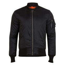 Куртка Basic Bomber Jacket Black | Surplus