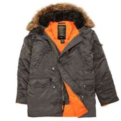 "Куртка ""Slim Fit N-3B Parka"" REPLICA GRAY / ORANGE 