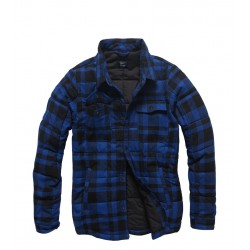 Куртка Squared padded 3028 Blue check | Vintage Industries
