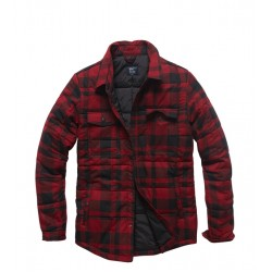 Куртка Squared padded 3028 Red check | Vintage Industries