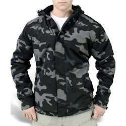 Куртка Zipper Windbreaker Black Camo | Surplus