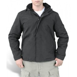 Куртка Zipper Windbreaker Black | Surplus
