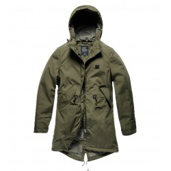 Куртка женская Britt ladies parka 25304 Olive Drab | Vintage Industries