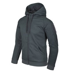 Толстовка Urban Tactical Hoodie FullZip Melange Black-Grey | Helikon-Tex