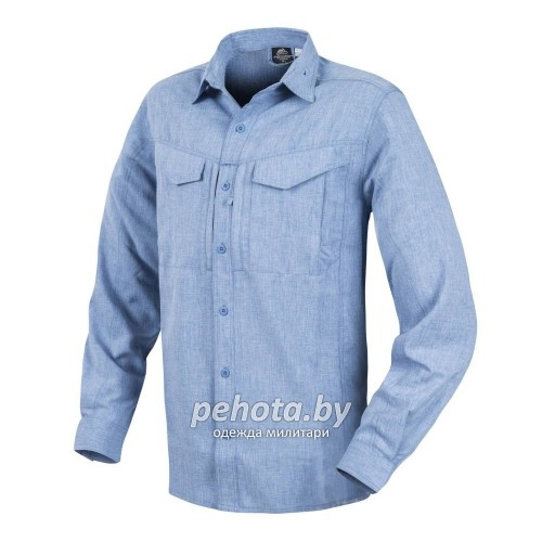 Рубашка Defender Mk2 Gentleman Shirt Melange Light Blue | Helikon-Tex фото 1