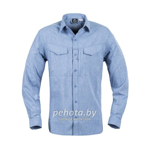 Рубашка Defender Mk2 Gentleman Shirt Melange Light Blue | Helikon-Tex фото 2