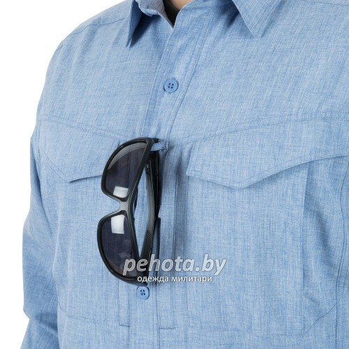 Рубашка Defender Mk2 Gentleman Shirt Melange Light Blue | Helikon-Tex фото 3