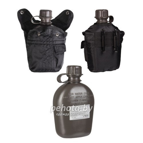 Фляга US Field 1L Black | Mil-tec фото 2