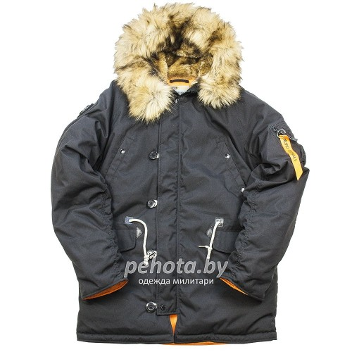 Зимняя куртка Аляска Oxford 2.0 Compass Black/Orange | Nord Denali Storm фото 1