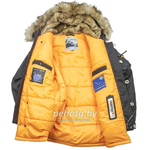 Зимняя куртка Аляска Oxford 2.0 Compass Black/Orange | Nord Denali Storm фото 2