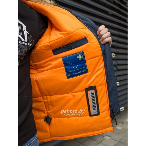 Куртка Аляска Oxford 2.0 Compass Rep.Blue/Orange | Nord Denali фото 19