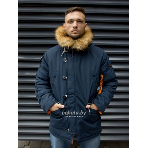 Куртка Аляска Oxford 2.0 Compass Rep.Blue/Orange | Nord Denali фото 20