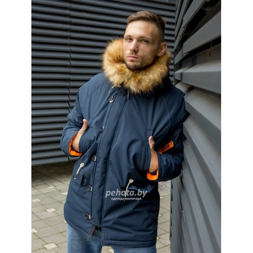 Куртка Аляска Oxford 2.0 Compass Rep.Blue/Orange | Nord Denali фото 3