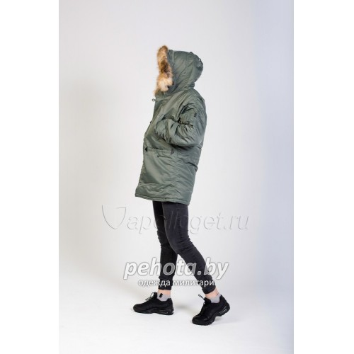 Куртка Аляска TIGHT HUSKY ll OLIVE/ORANGE | Apolloget фото 8