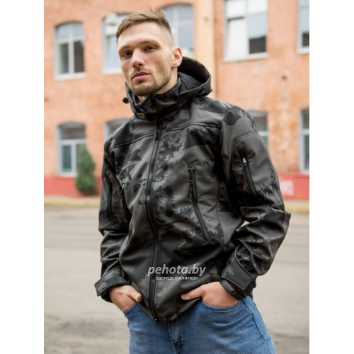 Куртка Оперативник GT GEN-II SoftShell Night Camo | Grizzly фото 2