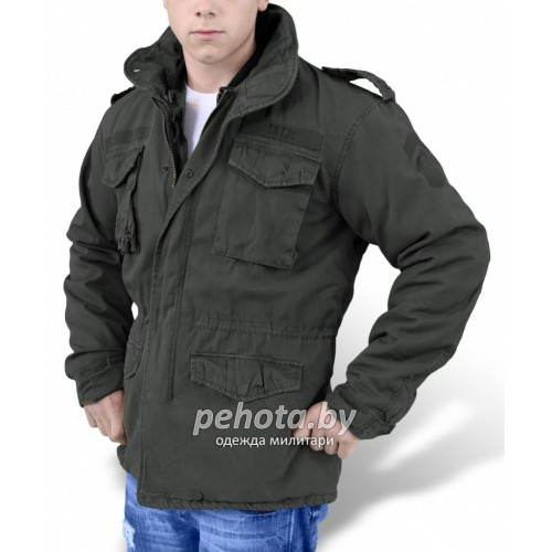 Куртка зимняя Regiment M65 Jacket Black | Surplus фото 2