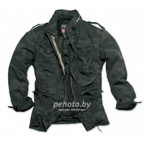 Куртка зимняя Regiment M65 Jacket Black camo | Surplus фото 2