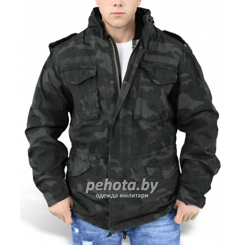 Куртка зимняя Regiment M65 Jacket Black camo | Surplus фото 1