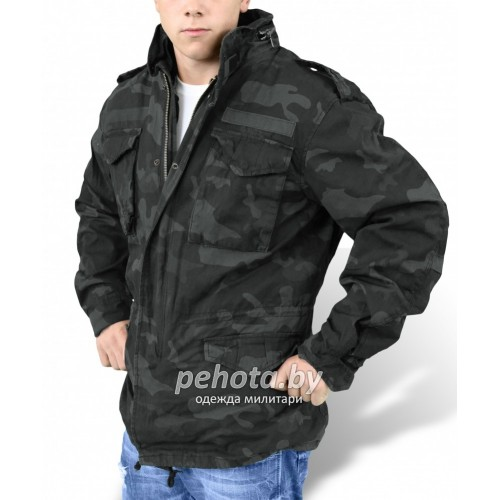 Куртка зимняя Regiment M65 Jacket Black camo | Surplus фото 3