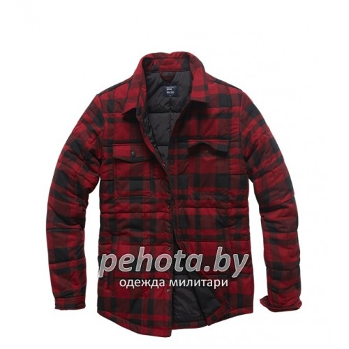 Куртка Squared padded 3028 Red check | Vintage Industries фото 1