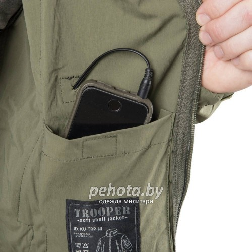 Куртка ветровка Trooper Soft Shell Jungle Green | Helikon-Tex фото 8