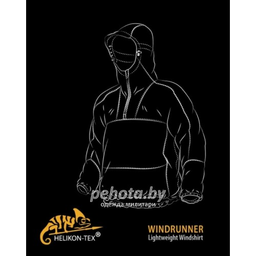 Куртка-ветровка Windrunner Black | Helikon-Tex фото 2