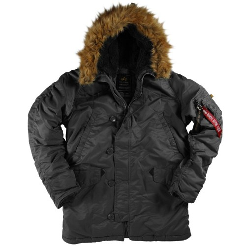 Куртка Alpha Industries N-3B Parka Black фото 1