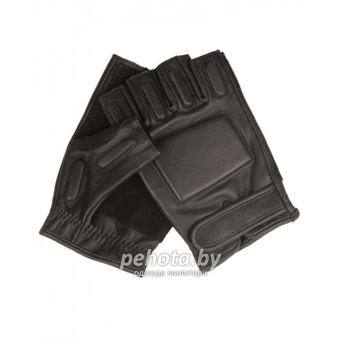 Перчатки Sec leather Black | Mil-Tec фото 1