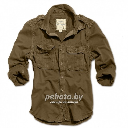 Рубашка 1/1 Raw Vintage Shirt Brown | Surplus фото 1