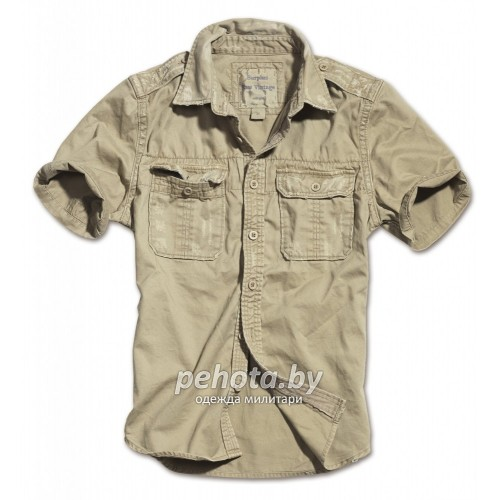 Рубашка 1/2 Raw Vintage Shirt Beige washed | Surplus фото 1