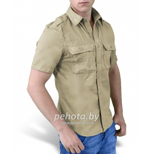 Рубашка 1/2 Raw Vintage Shirt Beige washed | Surplus фото 3