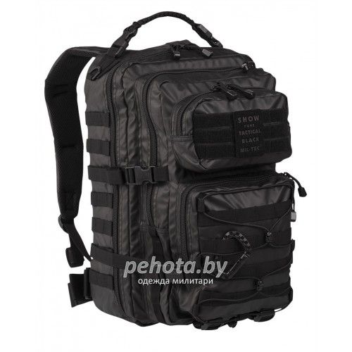 Рюкзак US ASSAULT PACK 25L TACTICAL BLACK | Mil-tec фото 1