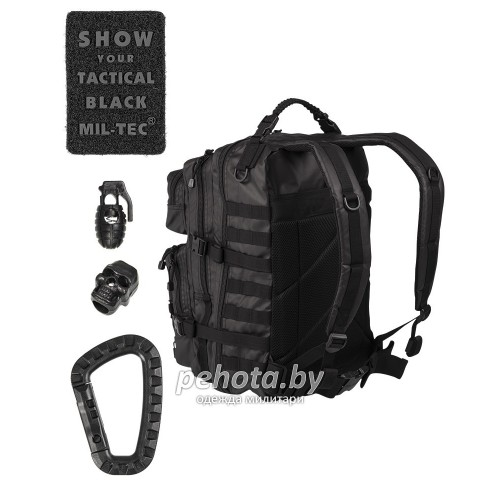 Рюкзак US ASSAULT PACK 25L TACTICAL BLACK | Mil-tec фото 2
