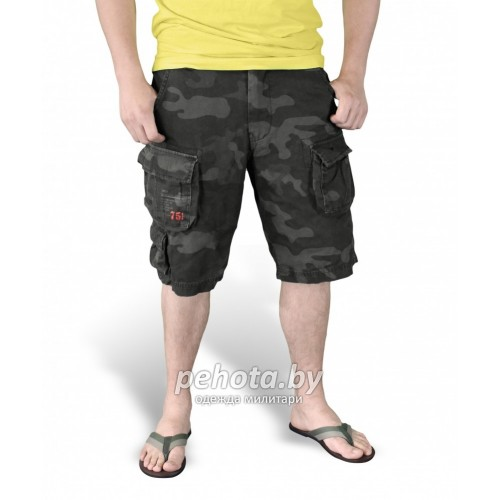 Шорты Trooper Shorts Black Camo | Surplus фото 3